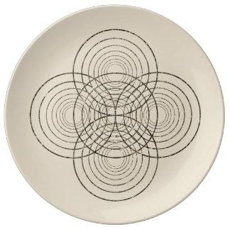 Widergespiegelte Kreisplatte Teller