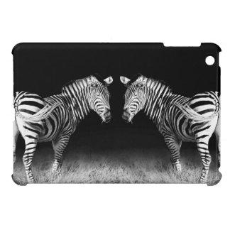 Widergespiegelte Schwarzweiss-zebras iPad Mini Schale
