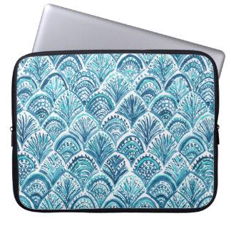 WIE ein MEERJUNGFRAU Seefisch-Skala-Muster Laptopschutzhülle