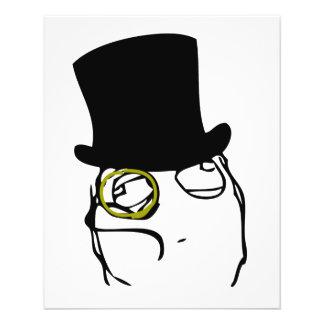 Wie ein Sir Rage Face Meme 11,4 X 14,2 Cm Flyer