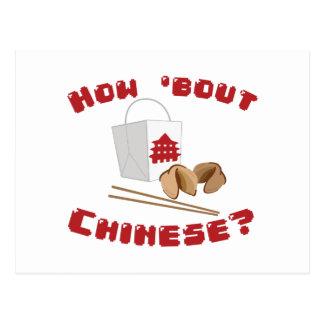 Wie Kampf-Chinese Postkarte