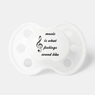 Wie Musik ist, was Gefühle klingen Schnuller