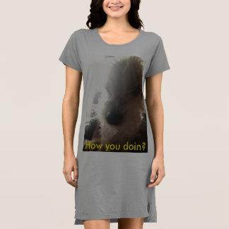 Wie Sie doin? Hundegesicht Kleid