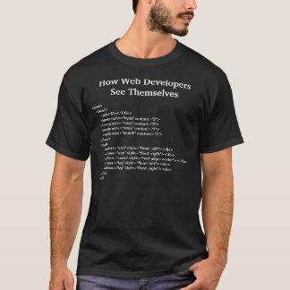 Wie Web-Entwickler sich sehen T-Shirt