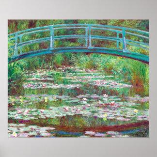Wieder hergestellte Farbe Monet, der japanischen Poster