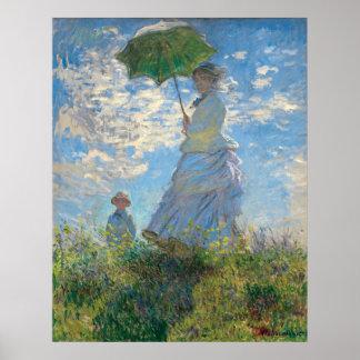 Wieder hergestellten Monets Frau mit einem Poster
