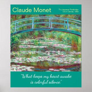 Wieder hergestelltes Monet japanisches Poster