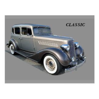Wieder hergestelltes Vintages Auto Postkarte