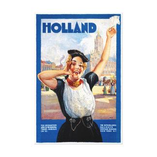 Wieder hergestelltes Vintages Reise-Plakat Gespannte Galeriedrucke
