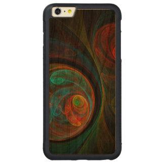 Wiedergeburt-blaue abstrakte Kunst Carved® Cherry iPhone 6 Plus Bumper Hülle