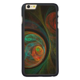 Wiedergeburt-blaue abstrakte Kunst Carved® Maple iPhone 6 Plus Hülle