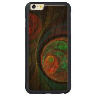 Wiedergeburt-grüne abstrakte Kunst Carved® Cherry iPhone 6 Plus Bumper Hülle