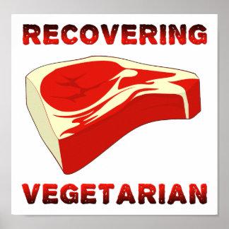 Wiederherstellung des vegetarischen lustigen poster