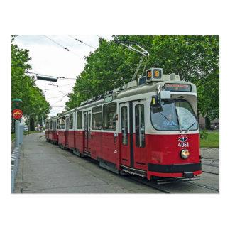 Wien elektrischer Streetcar 2014 Postkarten