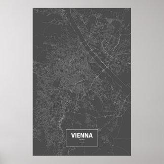 Wien, Österreich (weiß auf Schwarzem) Poster