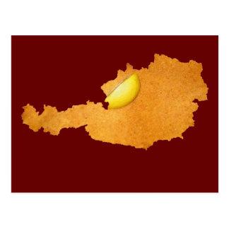 Wiener Schnitzel - Karte von Österreich