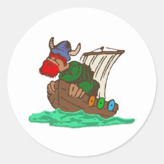 wikinger schiff viking ship runder aufkleber