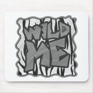Wild ich Tiger-Schwarzweiss-Druck Mousepads