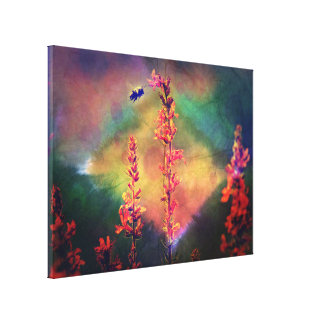 Wildblumen-Diamant-Erdtöne der Bienen-N Gespannte Galerie Drucke