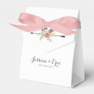 Wildblumen-Federn und Pfeil Geschenkschachtel
