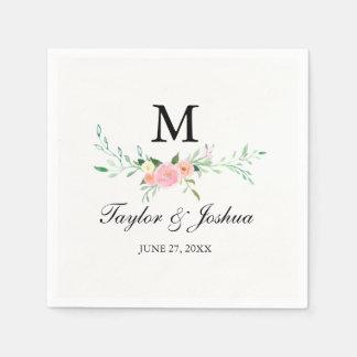 Wildblumewatercolor-Hochzeits-Serviette Papierserviette