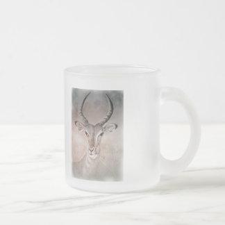Wilde Antilopen-Tasse Matte Glastasse