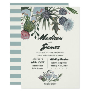 Wilde Blau | des Blumen-Blumenstraußes | Wedding Karte