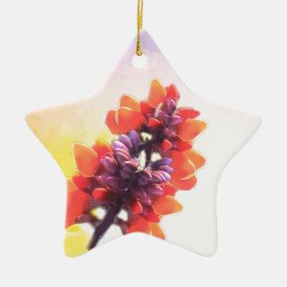 Wilde Blumen Keramik Stern-Ornament