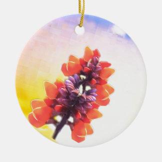 Wilde Blumen Rundes Keramik Ornament