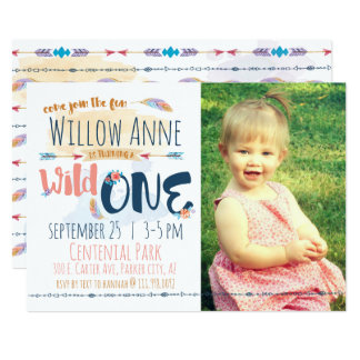 Wilde erste Geburtstags-Einladung Karte