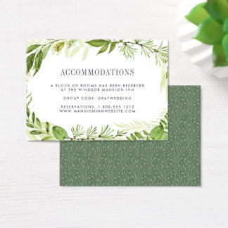 Wilde Hotelunterbringungs-Karten der Wiesen-| Jumbo-Visitenkarten