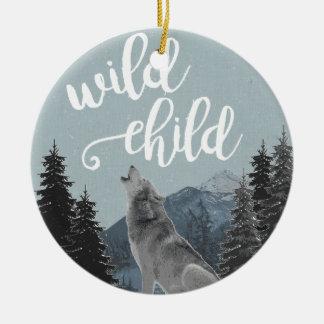 Wilde Kinderverzierung Rundes Keramik Ornament