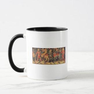 Wilde Männer und Tiere, Tapisserie, 15. Tasse
