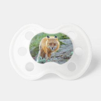 Wilde roter Foxvixen-Tier-Foto-Kunst Baby Schnuller