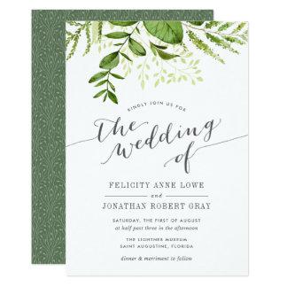 Wilde Wiesen-botanische Hochzeits-Einladung Karte
