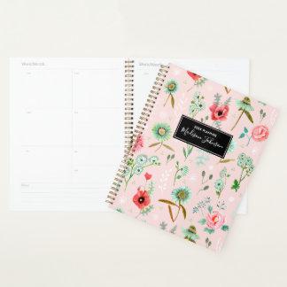 Wilder rosa Planer des Blumen-Muster-| der