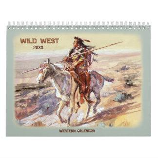 Wilder Westkalender 2018 Wandkalender