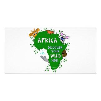 Wildes Afrika Individuelle Photo Karte