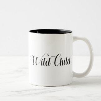 Wildes Kind Zwei-Tonte Tasse