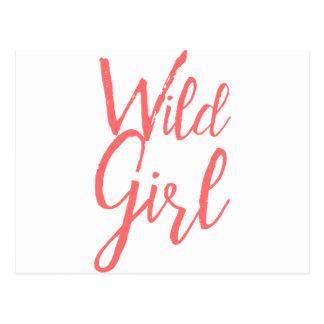 Wildes Mädchen (feministische Ausdrücke) Postkarte