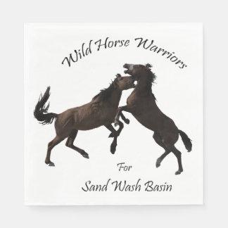 Wildes PferdeKrieger für Sand-Waschbecken Papierservietten