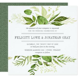 Wildes Quadrat der Wiesen-Hochzeits-Einladungs-| Quadratische 13,3 Cm Einladungskarte