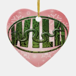 WILDES SCHLANGEN-LOGO KERAMIK Herz-Ornament