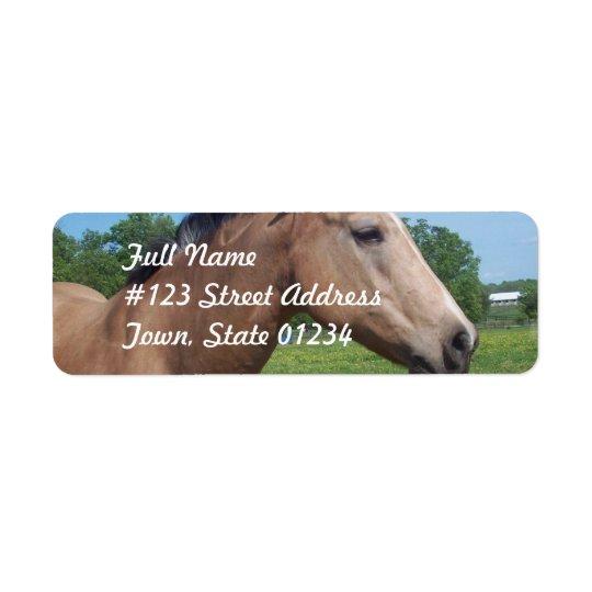 Wildleder-Mustang-Postsendung-Aufkleber Rücksende Aufkleber