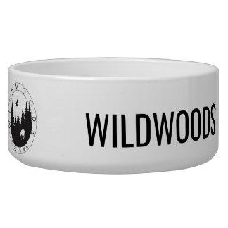 Wildwoods Logo-Keramik-Haustier-Schüssel Wassernapf Für Hunde