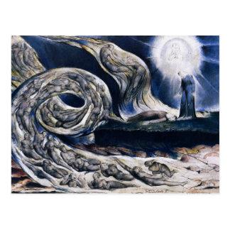 William Blake die Liebhaber-Wirbelwind-Postkarte Postkarte