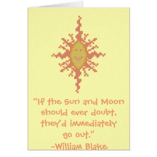William Blake Sun und Mond-Vertrauens-Zitat Karte
