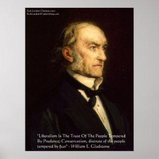 "William Gladstone ""Liberale u. konservatives"" Poster"