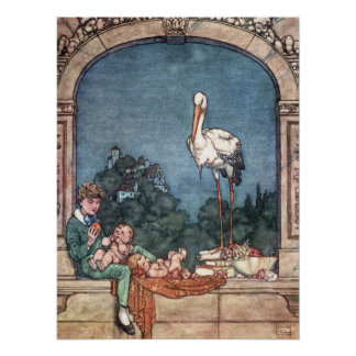 William-Heide Robinson - die Störche Poster