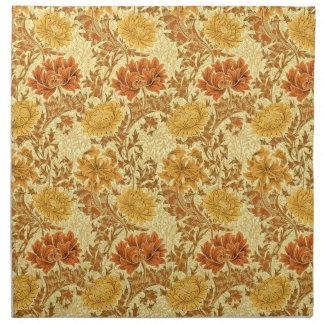 William Morris-Chrysanthemen, Senf-Gold Serviette